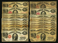 Large Size:Legal Tender Notes, $1 1917 Legal Tenders Group Lot.. ... (Total: 57 notes)