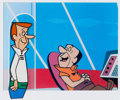 "Animation Art:Production Cel, The Jetsons ""Jane's Driving Lesson"" George Jetson ProductionCel (Hanna-Barbera, 1963).... (Total: 2 Items)"