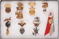 Political:Ribbons & Badges, Mining-Related Souvenir Badges: Collection of Eight. ...