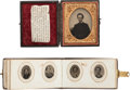 Photography:Tintypes, Tintype Album & Cased Image of the Deceased as a Boy....(Total: 2 )