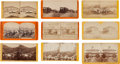 Photography:Stereo Cards, Stereoviews: Four Stagecoach Scenes from Glen Falls and Saratoga, NY.... (Total: 9 )