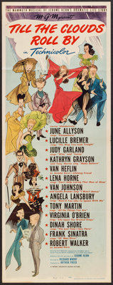 "Till the Clouds Roll By (MGM, 1946). Insert (14"" X 36""). Musical"