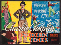 """Modern Times (United Artists, 1936). Herald (12"""" X 9"""") DS. Comedy"""
