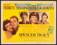 """Thirty Seconds Over Tokyo (MGM, 1944). Title Lobby Card (11"""" X 14""""). War"""