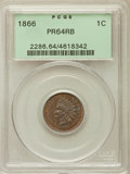 Proof Indian Cents: , 1866 1C PR64 Red and Brown PCGS. PCGS Population (87/62). NGC Census: (18/44). Mintage: 725. Numismedia Wsl. Price for prob...