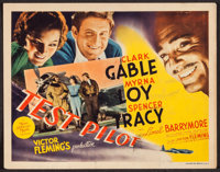 "Test Pilot (MGM, 1938). Title Lobby Card (11"" X 14""). Action"
