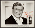 """Movie Posters:Action, John Wayne in McQ (Warner Brothers, 1974). Autographed Photo (8"""" X10""""). Action.. ..."""