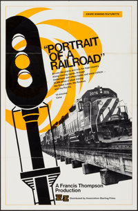 """Portrait of a Railroad (Association - Sterling Films, 1973). Poster (22"""" X 34""""). Documentary"""