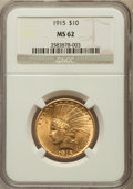 Indian Eagles: , 1915 $10 MS62 NGC. NGC Census: (1120/933). PCGS Population(1100/825). Mintage: 351,075. Numismedia Wsl. Price for problem ...