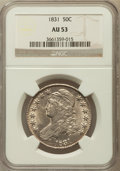 Bust Half Dollars: , 1831 50C AU53 NGC. NGC Census: (117/1024). PCGS Population(140/923). Mintage: 5,873,660. Numismedia Wsl. Price for problem...