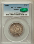 Coins of Hawaii, 1883 25C Hawaii Quarter MS62 PCGS. CAC. PCGS Population (181/885).NGC Census: (138/679). Mintage: 500,000....
