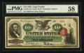 Large Size:Legal Tender Notes, Fr. 95b $10 1863 Legal Tender PMG Choice About Uncirculated 58.. ...