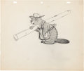 Animation Art:Production Drawing, The Bear and the Beaver Character and Layout Drawing Group(MGM, 1942).... (Total: 4 Items)