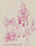 Animation Art:Production Drawing, Walt Disney Studio Pin-Up Artwork attributed to Paul Murry (WaltDisney, c. 1940s)...