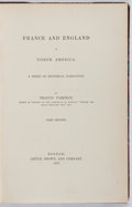 Books:Americana & American History, Francis Parkman. LIMITED TO 75 COPIES. The Jesuits in NorthAmerica in the Seventeenth Century. Little, Brown, a...