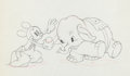 Animation Art:Production Drawing, Mickey's Elephant Mickey and Bobo Production Drawing (WaltDisney, 1936)....
