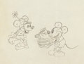 Animation Art:Production Drawing, The Klondike Kid Mickey and Minnie Mouse Production Drawing(Walt Disney, 1932)....