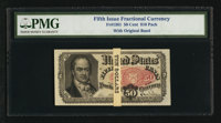 Fr. 1381 50¢ Fifth Issue Original Band $10 Pack of Twenty PMG Certified