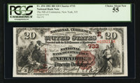 New York, NY - $20 1882 Brown Back Fr. 494 The NB of Commerce Ch. # (E)733