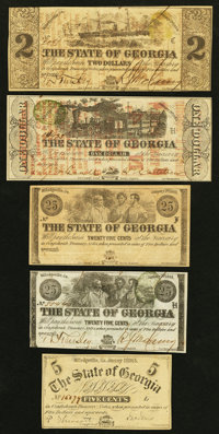 Milledgeville, GA- The State of Georgia Notes used for Advertising Group Five Examples