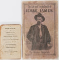 Books:Fiction, [Men and Morals]. Two Titles. The Life and Tragic Death of JesseJames. Pennsylvania: Barclay and & Co, 1883. Publis...