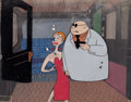 Animation Art:Production Cel, Magoo Express Mr. Magoo Production Cel Set-Up (UPA,1955)....