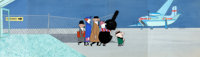 When Magoo Flew Mr. Magoo Pan Production Cel and Background (UPA, 1954)