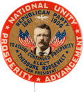 Political:Pinback Buttons (1896-present), Theodore Roosevelt: One of the Very Best 1904 Portrait ButtonDesigns. ...
