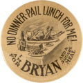 Political:Pinback Buttons (1896-present), William Jennings Bryan: One of the Best Cartoon Button Rarities....