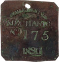 Political:Tokens & Medals, 1820 Charleston MECHANIC Slave Hire Badge, Number 175....