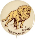 Political:Pinback Buttons (1896-present), Theodore Roosevelt: One of the Best TR Cartoon Button Designs in Top Condition. ...