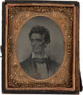 Photography:Ambrotypes, Abraham Lincoln: Ninth Plate Ambrotype....