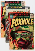 Golden Age (1938-1955):War, Foxhole #4 and 7 Group (Charlton, 1955-56).... (Total: 5 ComicBooks)