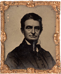 John Brown: A Most Unusual and Rare Tintype Image of the Notorious Leader of the Harper's Ferry Raid