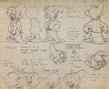 animation art:Model Sheet, Snow White and the Seven Dwarfs and Goofy Model Sheet Group(Walt Disney, 1937).... (Total: 6 Items)