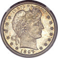 Barber Quarters, 1897-S 25C MS65 NGC. CAC....