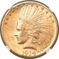 Indian Eagles, 1914-S $10 MS62 NGC....