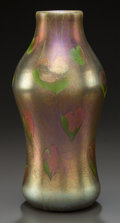 Art Glass:Tiffany , TIFFANY STUDIOS FAVRILE GLASS BALUSTER VASE . Circa 1900, Signaturepresumably erased by drilling. 11-1/4 inches high (28.6 ...