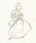 Animation Art:Production Drawing, Casey Bats Again Drawing by Fred Moore (Disney, 1954)....