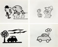 Animation Art:Production Drawing, Ford Television Commercial Production Drawings Group (PantomimePictures, c. 1960s).... (Total: 62 Items)
