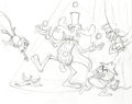 Animation Art:Production Drawing, Rocky and Bullwinkle Sketch Group by Bill Hurtz (c. 1990s)....(Total: 3 Items)