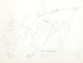 Animation Art:Production Drawing, Michigan J. Frog Production Drawings by Tom McKimson (WarnerBrothers, 1980s)....