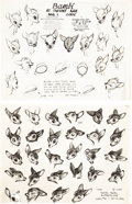 animation art:Model Sheet, Bambi Model Sheet Group (Walt Disney, 1938-40).... (Total:25 Items)