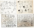 animation art:Model Sheet, Max Fleischer/Famous Studios Model Sheet Group (c. 1930s-50s)....(Total: 36 Items)