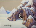 Animation Art:Production Cel, Chilly Willy Production Cel and Background Set-Up (Walter Lantz, c.1960s)....