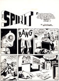 "Original Comic Art:Splash Pages, Will Eisner The Spirit Section ""The Perfect Crime"" SplashPage 1 Original Art dated 1-5-47 (Will Eisner, 1947)...."