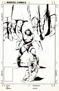 Original Comic Art:Covers, John Buscema Conan the Barbarian #174 Unpublished Alternate Cover Variant Original Art (Marvel, 1985)....