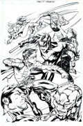Original Comic Art:Covers, Ale Garza and Richard Friend Titans/Young Justice: GraduationDay Trade Paperback Cover Original Art (DC, 2003)....