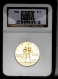 1984-W G$10 Olympic Gold Ten Dollar MS70 NGC. NGC Census: (211/0). PCGS Population (17/0). Mintage: 75,800. Numismedia W...