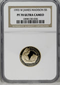 Modern Issues: , 1993-W G$5 Bill of Rights Gold Five Dollar PR70 Deep Cameo NGC. NGC Census: (2/0). PCGS Population (23/0). Mintage: 78,651....